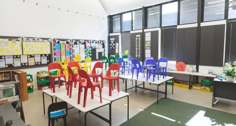 Servicio de limpieza en los colegios